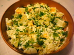 Картофена салата с яйца