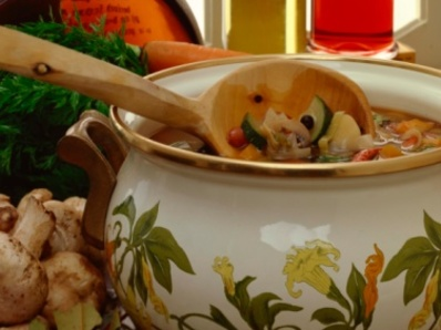 Зеленчукова супа с кашкавал