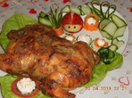 Пиле с кайма, яйца и моркови