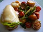 Пилешки гърди със зеленчуци