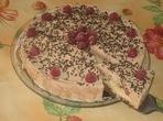 Сладоледена торта с течен шоколад