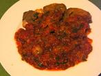 Телешки език с доматен сос