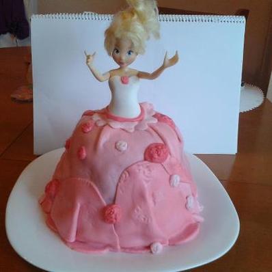 Торта Барби (с фондан)