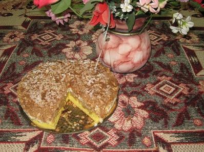 Ябълков сладкиш с канела и орехи