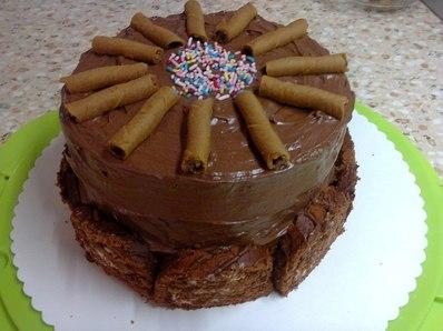 Бърза торта с готови блатове