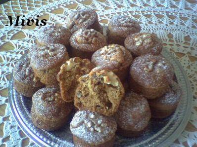 Мъфини със сладко и орехи