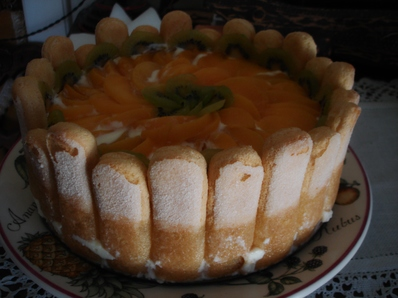 """Торта """"Malakoff"""" с плодове"""