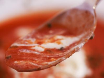 Доматена супа с мащерка