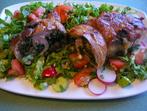 Пълнено пиле със спанак и печурки