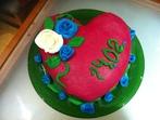 Торта сърце с вишни