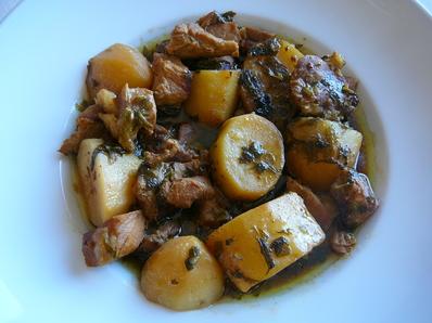 Свински хапки с картофи